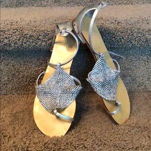 Sliver sandals Lola Cruz size 38